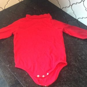 Red turtleneck body suit. Worn once.